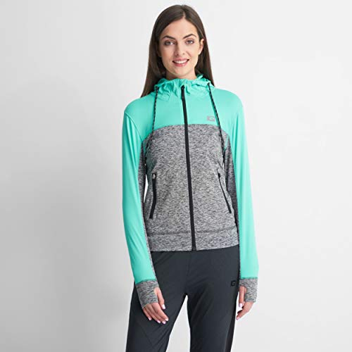IQ-Company EOS WMNS Blouse Femme S Biscay Green/Grey Melange