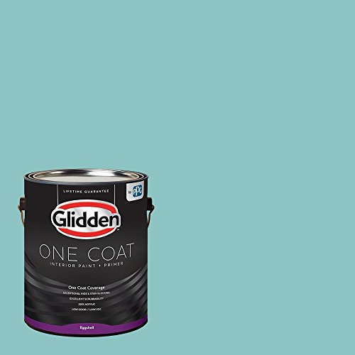 Glidden Interior Paint + Primer: Teal/Aqua Interior Paint /Aqua Fiesta, One Coat, Eggshell, 1 Gallon