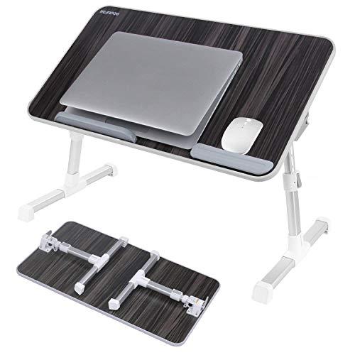 NEARPOW 【改良版】 折りたたみ式 ノートパソコンスタンド ベッドテーブル 4つ組み立て方 両・右・左利き対...