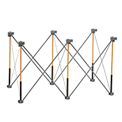 Saw-horse solution - Made of heavy duty steel construction, The centipede is a fold-able work stand that can be set up as a large portable workbench at any job site Complete kit- The full set comes with the following accessories: 2 quick Clamps to ke...