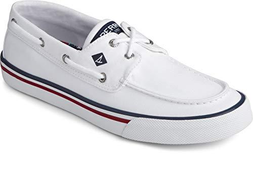 Sperry mens Bahama Ii Boat Shoe, White, 10 US