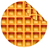 Jorbest Burritos Blanket, Waffles Blanket for Adults and Kids, Double Sided Funny Food Throw Blanket for Everyone, Novelty Gifts for Teens, 285 GSM Soft Flannel Taco Blanket, 60 inches Brown
