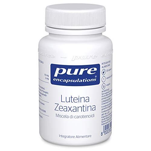 Pure Encapsulations - Luteina/Zeaxantina Vision Support Formula - Formulata con Vitamina C, Luteina e Zeaxatina - Estratto di Semi di Mirtillo e Uva - 30 Capsule