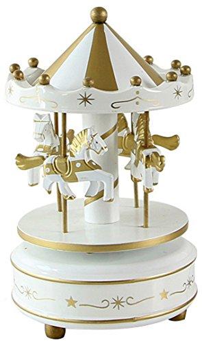 HorBous, carillon a carica, giostra di legno, con musica, idea regalo, decorazione in...