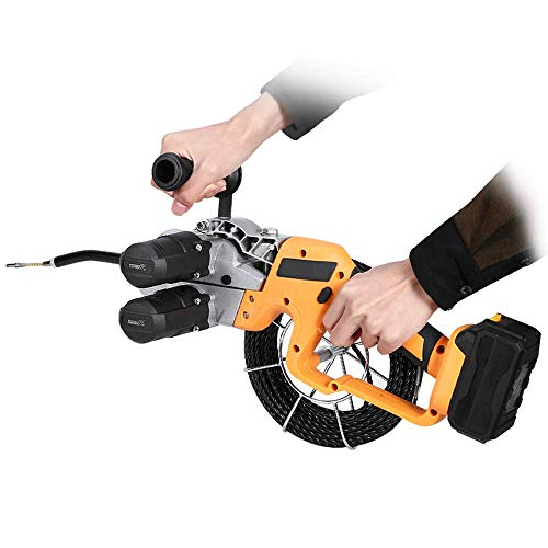 YJINGRUI Electrician Wire Puller Through Wall Electrical Wire Threader Machine Automatic Wiring with 30m Lead Wire (One Battery One Charger)