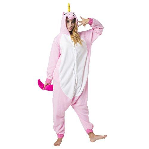 Katara 1744 Einhorn Onesie Kostüm, Märchen, Party, Karnevals-Kostüm Fantasie in Rosa, Verkleidung zum Fasching, Sleepsuit, Schlafanzug, Hausanzug, Jogginganzug, Cosplay, Tierkostüm