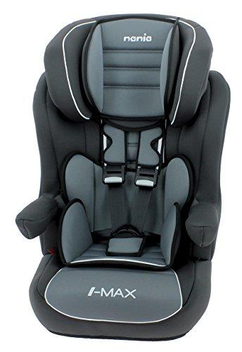 Silla de coche para Bebe isofix IMAX grupo 1/2/3 (9-36kg) con proteccion lateral y el reposacabezas ajustable - made in France - Nania