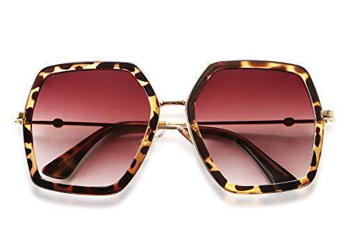 FEISEDY Gafas sol geométricas mujer Moda mujer Estilo