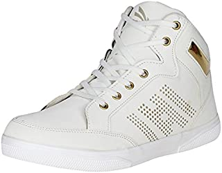 Urban Whiz by Emosis Men's Sneakers - High Ankle Boot Casual Shoe - for Dancing Outdoor Daily Use Available in Red Blue Black White Colour - 0118U