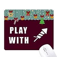 花火大好き ゲーム用スライドゴムのマウスパッドクリスマス