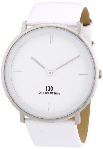 Danish Design 3314437 - Orologio da polso uomo, pelle, colore: bianco