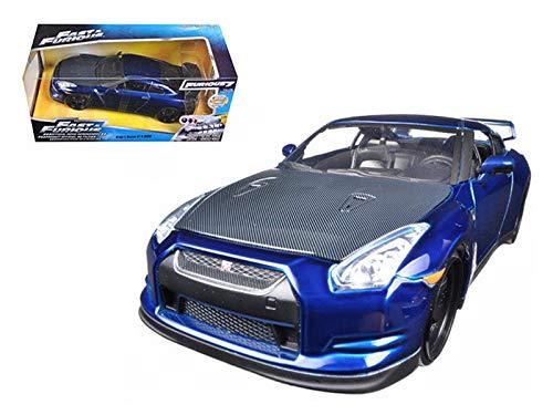 New DIECAST Toys CAR JADA 1:24 W/B Fast and Furious 7-2009 Nissan GT-R R35 Brian's 97036