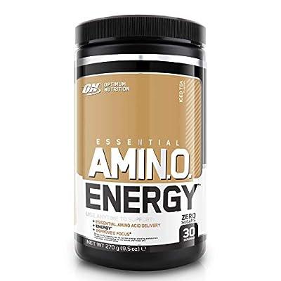 Optimum Nutrition Amino Energy Pre Workout Powder Keto Friendly with Beta Alanine, Caffeine, Amino Acids and Vitamin C, Iced Tea, 30 Servings, 270 g