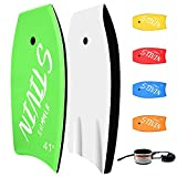 STIVIN Bodyboards 33in/37in/41in Lightweight Body Boards with Coiled Leash...