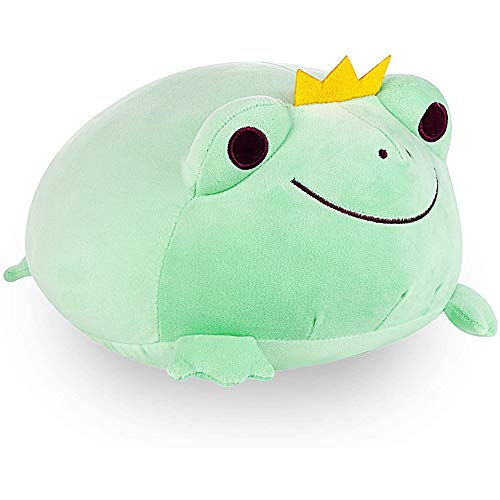 WAQIAGO Frog Stuffed Animal, Durable Frog Plush Toy, Plush Frog with Crown Soft Frog Plush Pillow Decoration Cuddly Gift for Kids Baby Girls Boys