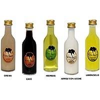 Lote de 25 Botellas de Licores (Sabores a Elegir) Sol Villalucía. Detalles de Bodas y Eventos. 12 cm. - 5 cl (Arroz con Leche)