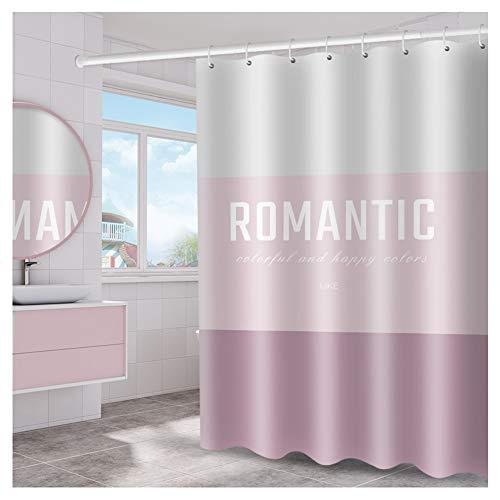 LYM /&Accessori da Bagno Shower Curtain Prova di Muffa Impermeabile Resistente Bagno Tende Verdi Foglie Modello for Vasca E Doccia in Poliestere Cortina di Bagno Size : 180X200cm