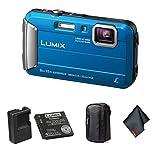 Panasonic Lumix DMC-TS30 Waterproof Digital Camera (Blue) - Bundle with...