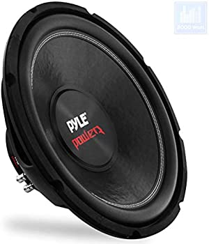 Car Vehicle Subwoofer Audio Speaker - 15inch Non-Pressed Paper Cone Black Plastic Basket Dual Voice Coil 4 Ohm Impedance 2000 Watt Power Foam Surround for Vehicle Stereo Sound System Pyle PLPW15D