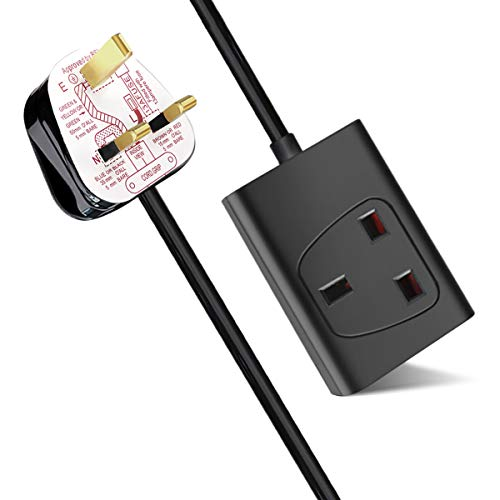 Extrastar 2 Voies Double Prise D/'alimentation Secteur Extension Lead 1 m mètre Câble-Surge