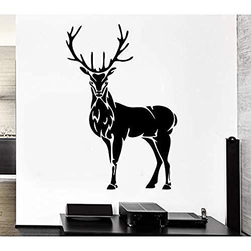 Zbzmm 57X88 cm muur Childrenl hertshoorn eland jacht dier vinyl vinyl decoratie muurschildering DIY