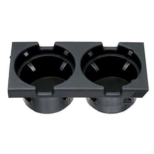 Auto Front Center Console Getränkehalter, langlebig einfach zu installieren Platzhalter für BMW 3er E46 Schwarz longyitrade