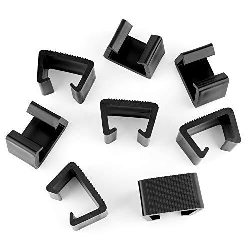 LUTER 8 Piezas Mimbre Clips para Muebles Plástico Clips para Sofá De Ratán Conector para Sofá Clips para Sujetadores para Patio Al Aire Libre (Negro, 6.5x4x4.2cm)