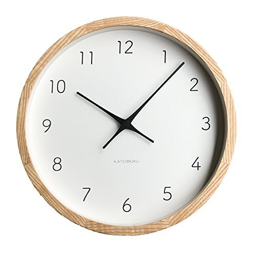 KATOMOKU Muku Clock 7 ナチュラル 電波時計 連続秒針ムーブメント km-60NRC φ306mm (ナチュラル)