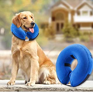 JOM Protective Inflatable Collar for Dogs and Cats - Soft Pet Recovery Cone Prevents Dogs from Biting and Scratching. Does...