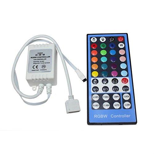 RGBW RGB+W LED IR Controller Remote Steuerung + 40key Fernbedienung 12.24V 8A