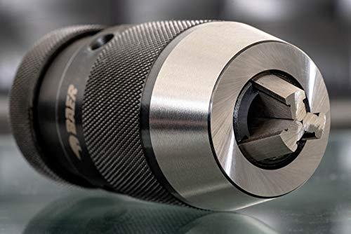 BAER Bohrfutter mit Kegeldornaufnahme 0,5-16 mm | Kegel: B 18 - Präzision-Bohrfutter | Schnellspannbohrfutter | Bohrhammer | Qualitätsbohrfutter