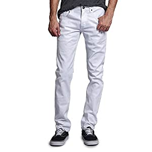 Men's Skinny Fit Color Stretch Jeans