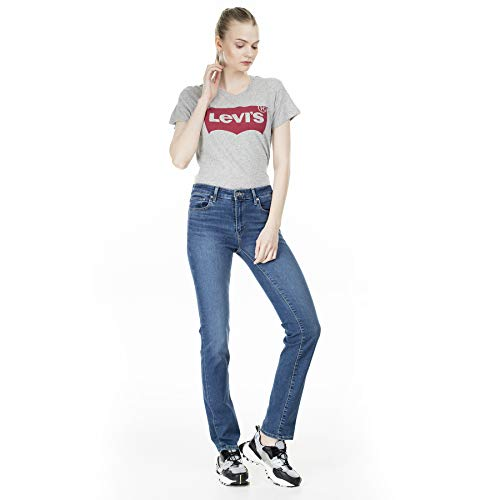 Levis 712 Slim Damen Jeans, Farbe:Blau, Größen:29W / 30L