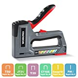 WORKPRO Staple Gun, 6-in-1, Manual Brad Nailer, Upholstery Stapler, Nail Gun for Fixing Material, Decoration, Carpentry, Furniture, Doors and Windows(Tool Only)