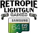 Retropie 64GB SD Card - Light Gun Games - Raspberry Pi 4 Raspberry Pi 400 - Retropie Light Gun Arcade Cabinet Games - Aimtrak Siden Light Guns Wiimotes