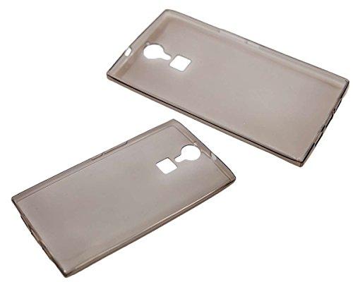 caseroxx TPU-Hülle für Doogee F5, Handy Hülle Tasche (TPU-Hülle in schwarz-transparent)