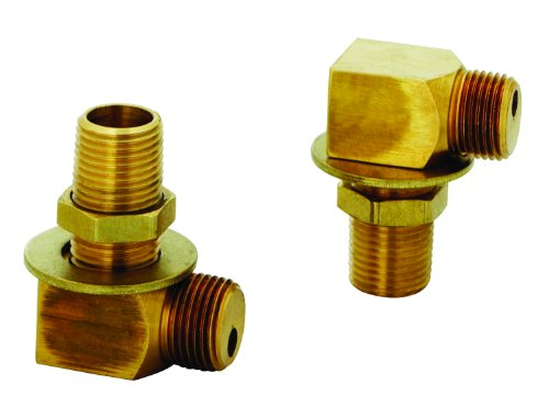 T&S Brass B-0230-K Installation Kit for B-0230 Style Faucets. Two short elbows, nipples, lock nuts and washers that provide 1/2' NPT male inlet and outlet when assembled