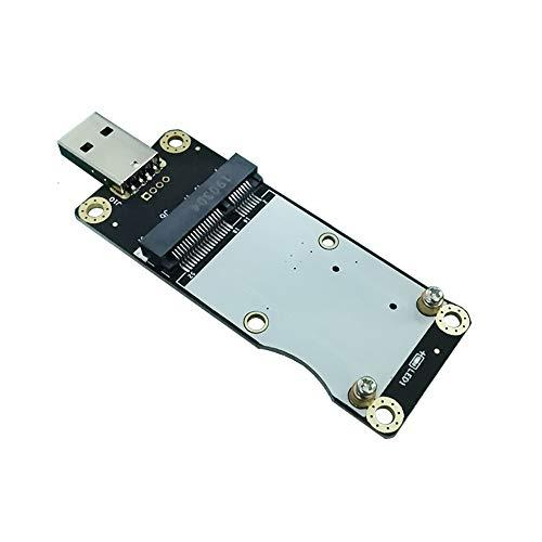 EXVIST 4G LTE Adattatore industriale Mini PCIe a USB W/SIM Card Slot per modulo WWAN/LTE 3G/4G Applicabile per applicazioni M2M e IoT come Raspberry Pi Industrial Router IP Camera Digital Signage ecc.
