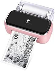 Impresora Fotográfica Portátil Phomemo M03 - Impresora Térmica Móvil Bluetooth, Compatible con Android iOS para Imprimir Instantáneamente, Fotos de Estilo Retro, Asistente de Vida útil, Regalo - Rosa