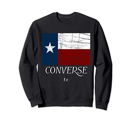 Converse TX| Vintage Texas Flag Apparel - Graphic Sudadera