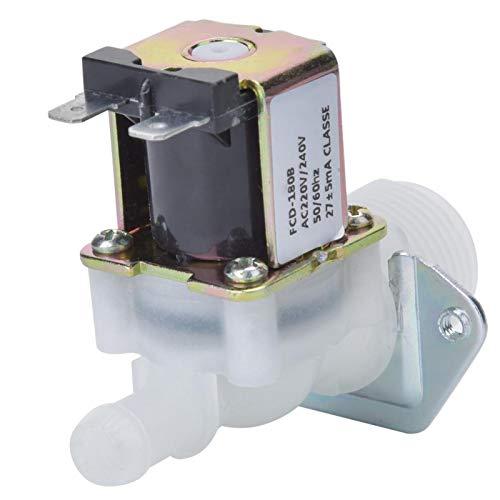 Válvula solenoide de plástico Válvula de control de válvula solenoide válvula de agua sola para refrigeradores para lavavajillas