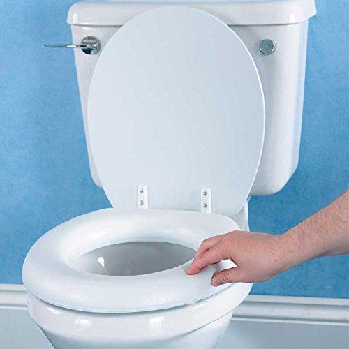 Bakaji Sedile WC Copriwater Copri Sedile Morbido Soft Seat Universale Colore Bianco, Seduta Confortevole e Morbida, Misura Standard