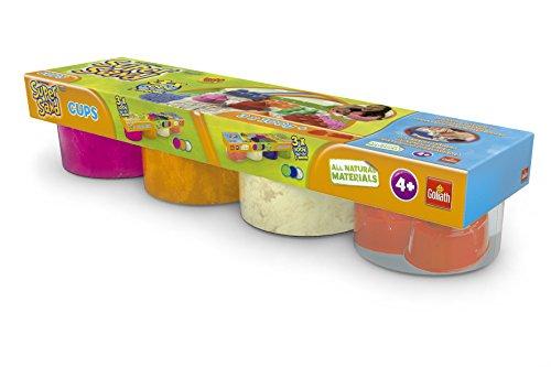 Super Sand - Botes de arena, color naranja / rosa / blanco / molde, pack de 4 (Goliath 83223006) , color/modelo surtido