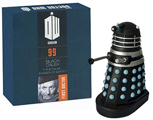 Official Licensed Merchandise Doctor Who Figur Supreme Black Dalek aus der Dalek Invasion of Earth handbemalt im Maßstab 1:21 Sammlerbox #99