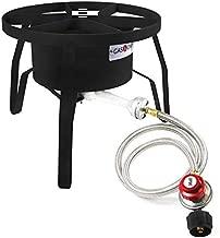 GasOne B-5300 One High-Pressure Outdoor Propane Burner Gas Cooker Weld, Black