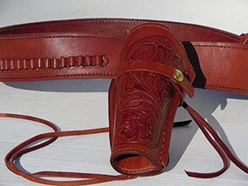 Super sale period limited Gun Belt - Leather 22 Caliber 6