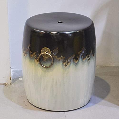 ADSE Taburete Antiguo para tocador Taburete de Tambor Taburete de jardín de Porcelana China Taburete de Tambor Chino Azul Antiguo de cerámica