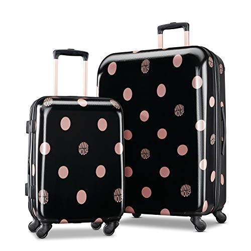 American Tourister Disney Hardside Luggage with Spinner Wheels, Minnie Lux Dots, 2-Piece Set (21/28)