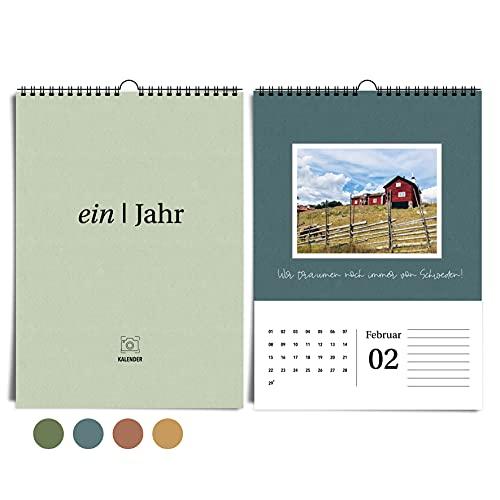 heaven+paper Calendario de pared A4 con fotos para...