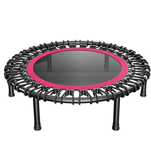 HFFSGS 40'Mini trampolín, trampolín de Fitness, con Patas Ajustables, Carga máxima 300lbs rebundeder trampolín Ejercicio Fitness trampolín para Interiores/jardín/Entrenamiento Cardio